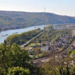 Вид на Рейн со стен замка Марксбург