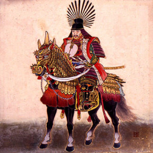 Тоётоми Хидэёси на коне