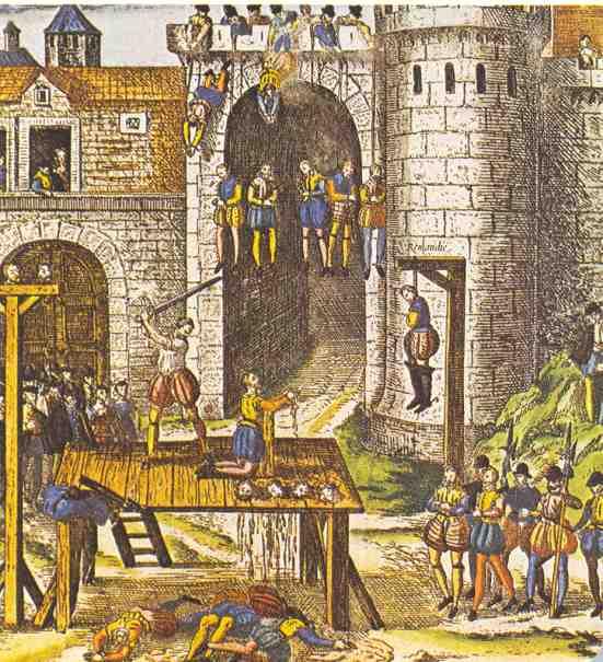 Казнь заговорщиков в замке Амбуаз