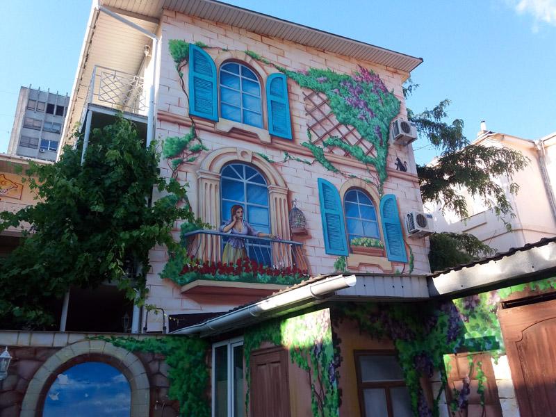 Оформление апарт отеля Клумба в Одессе