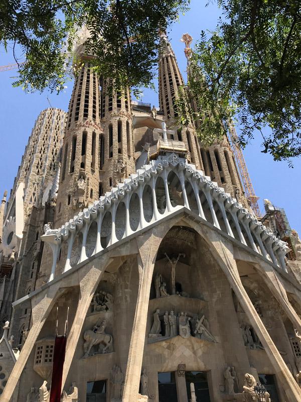 Sagrada Familia фасад Страстей
