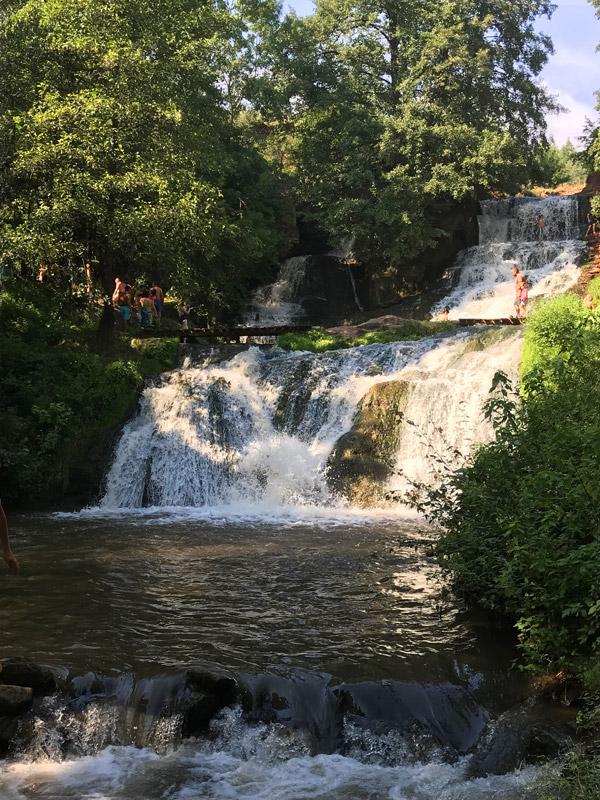 Самый крупный равнинный водопад Украины