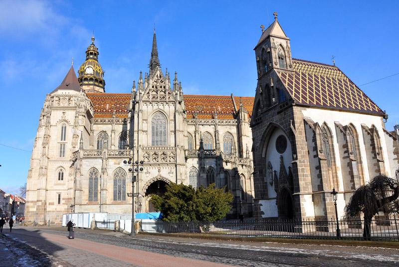 Центральная улица Кошице в Словакии