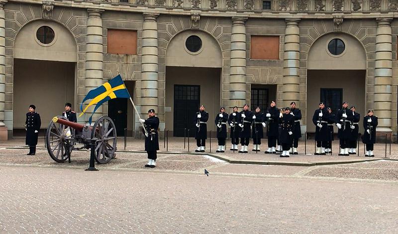 Смена караула возле королевского дворца