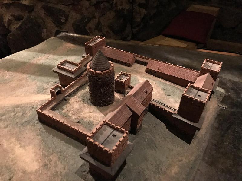 Макет древней крепости времен ярла Биргера